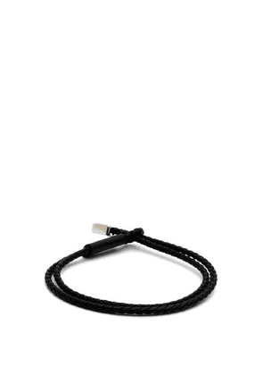 Prada - Woven-leather Bracelet - Mens - Black