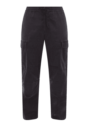 Officine Générale - Jay Garment-dyed Brushed-twill Cargo Trousers - Mens - Navy