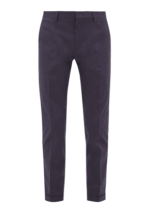 Paul Smith - Slim-leg Cotton-blend Twill Chinos - Mens - Navy