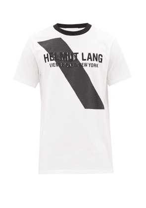 Helmut Lang - Logo-embroidered Cotton T-shirt - Mens - White Black