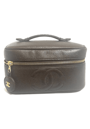 Caviar Leather Cosmetic And Toiletry Bag
