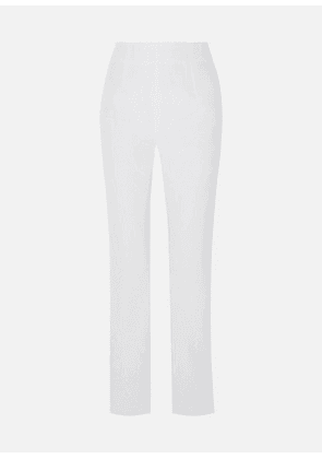 16ARLINGTON - Satin-twill Straight-leg Pants - White