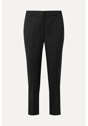 Max Mara - Uranio Cropped Wool-crepe Straight-leg Pants - Black