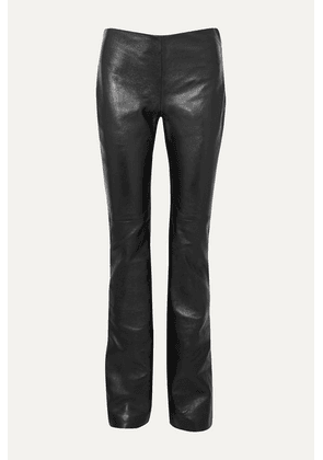 Joseph - Kent Leather Straight-leg Pants - Black