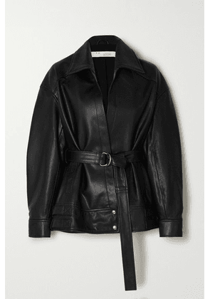 IRO - Howell Belted Leather Jacket - Black