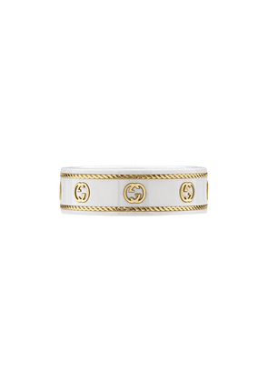 Gucci monogrammed ring - White