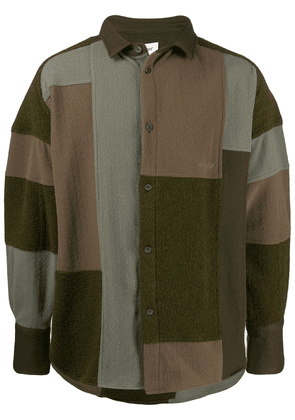 AMBUSH patchwork fleece jacket - Green