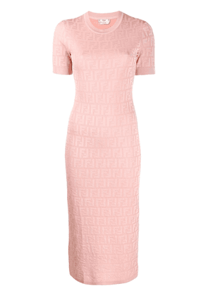 Fendi FF motif knitted dress - PINK