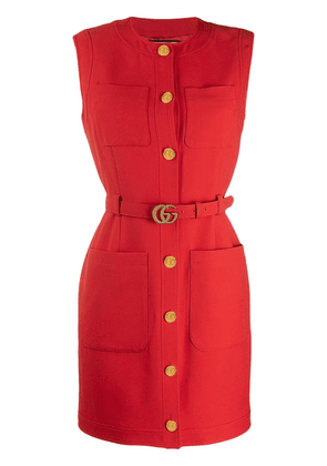 Gucci belted dress - Red