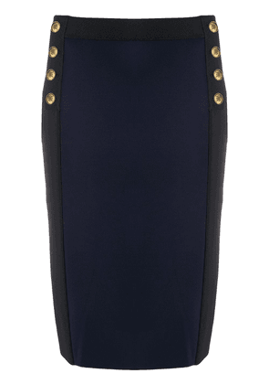 Givenchy button detail pencil skirt - Blue