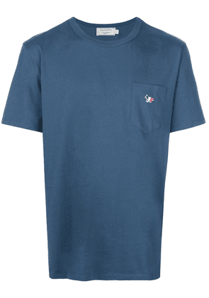 Maison Kitsuné Fox patch T-shirt - Blue
