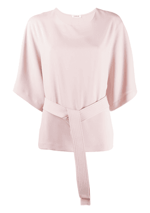 P.A.R.O.S.H. belted plain blouse - PINK