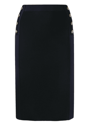 Givenchy high-waisted two-tone skirt - Black