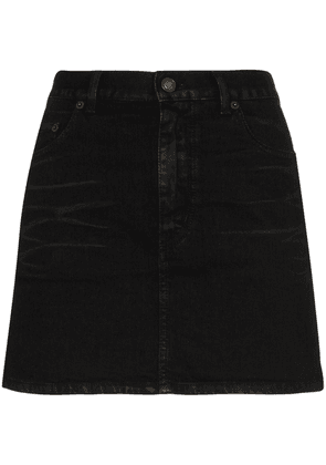 Saint Laurent denim mini skirt - Black