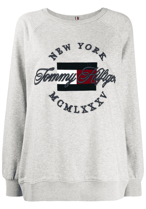 Tommy Hilfiger embroidered logo sweater - Grey