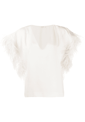 P.A.R.O.S.H. feathered top - White