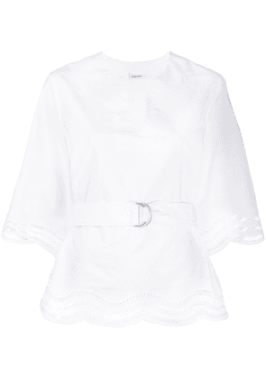 P.A.R.O.S.H. eyelet-trimmed blouse - White