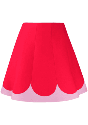 Valentino two tone A-line skirt - Red