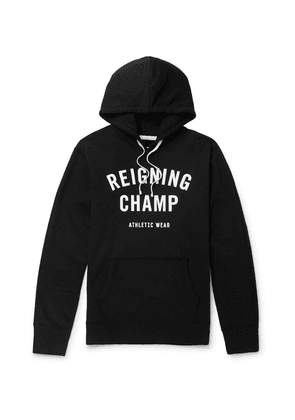 Reigning Champ - Logo-print Loopback Cotton-jersey Hoodie - Black