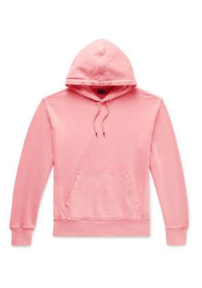 J.Crew - Garment-dyed Loopback Cotton-jersey Hoodie - Pink