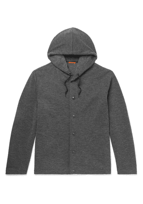 Barena - Mélange Stretch-jersey Hooded Cardigan - Gray