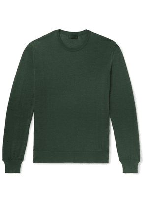 Charvet - Cashmere And Silk-blend Sweater - Green
