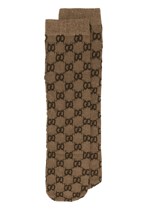 Gucci GG jacquard-knit socks - Brown