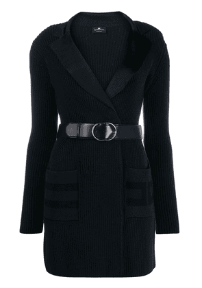 Elisabetta Franchi belted knitted dress - Blue