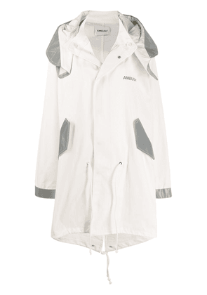 AMBUSH oversized hooded coat - White