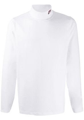 Fila roll neck sweater - White
