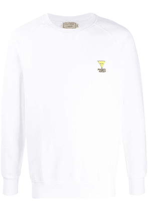 Maison Kitsuné triangle patch crew-neck sweatshirt - White