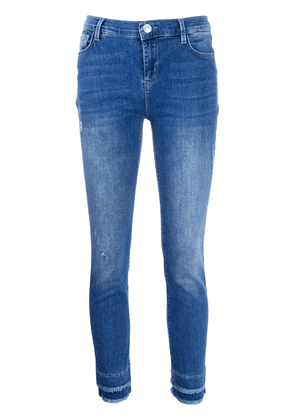 Twin-Set fringed-ankle skinny jeans - Blue