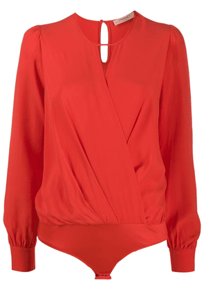 Twin-Set keyhole blouse - Red
