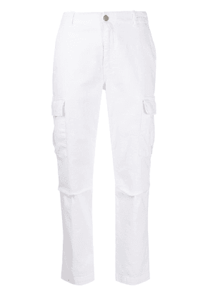 P.A.R.O.S.H. slim-fit cargo trousers - White