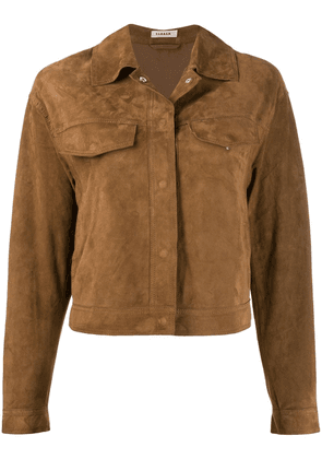 P.A.R.O.S.H. fringed detail jacket - Brown