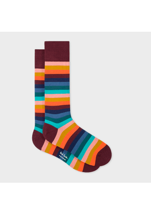 Men's Multi-Coloured Stripe Socks