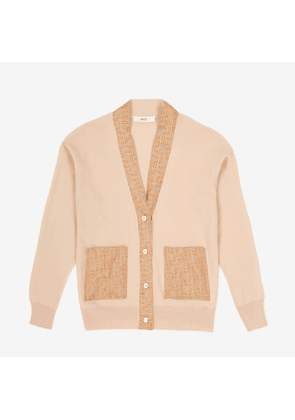 Cardigan With Silk Bally Wings Printed Details