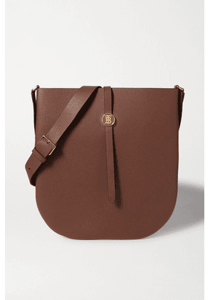 Burberry - Textured-leather Shoulder Bag - Brown