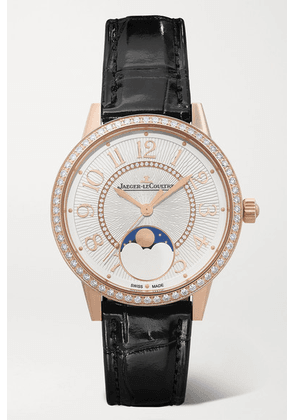 Jaeger-LeCoultre - Rendez-vous Moon Automatic 34mm Medium Rose Gold, Alligator And Diamond Watch - one size