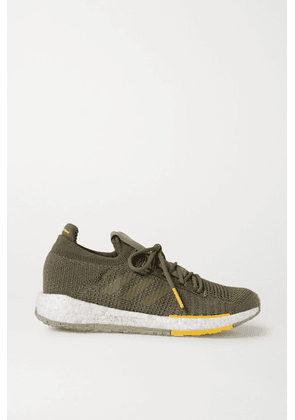 adidas Originals - + Monocle Pulseboost Hd Stretch-knit Sneakers - Army green