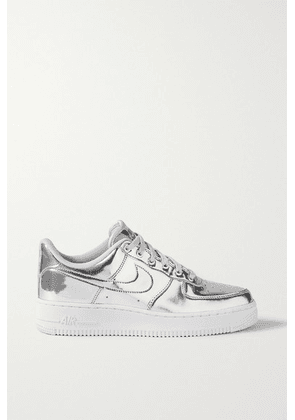 Nike - Air Force 1 Metallic Faux Leather Sneakers - US6