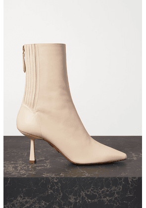 Aquazzura - Curzon 75 Leather Ankle Boots - Off-white