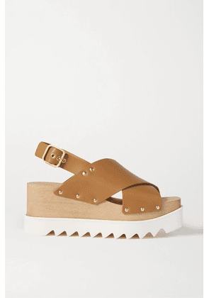 Stella McCartney - Studded Faux Leather Platform Sandals - Tan