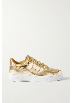 Nike - Air Force 1 Metallic Faux Leather Sneakers - US7