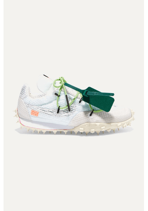 Nike - + Off-white Waffle Racer Ripstop, Suede, Mesh And Rubber Sneakers - US9