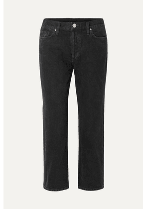 Goldsign - The Low Slung Cropped Mid-rise Straight-leg Jeans - Black