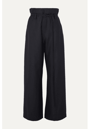 Marni - Belted Wool-twill Pants - Navy