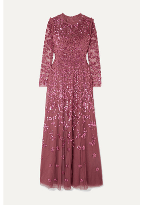 Needle & Thread - Rosmund Sequined Tulle Gown - Magenta