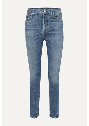 Citizens of Humanity - Olivia High-rise Slim-leg Jeans - Mid denim