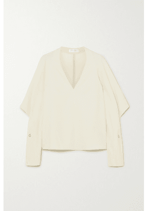 Victoria Beckham - Embellished Draped Cady Blouse - Cream